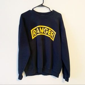 Ranger Spellout Graphic Oversized Sweater Top EUC